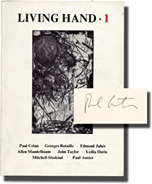 Living Hand 1, Fall 1973 (Signed by: Auster, Paul, Mitchell