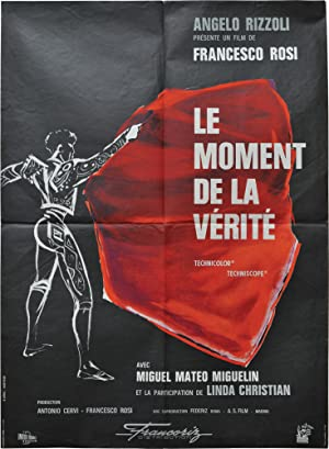 The Moment of Truth [Le moment de la verite] (Original French Moyenne poster for the 1965 film)