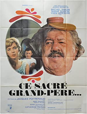 The Marriage Came Tumbling Down [Ce sacre grand-pere] (Original French poster for the 1968 film)