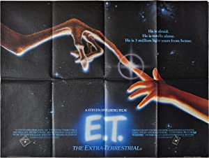 E.T. the Extra-Terrestrial (Original British poster for the 1982 film): Spielberg, Steven (director...