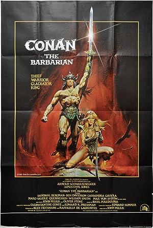 Conan the Barbarian (Original British poster for the 1982 film): Howard, Robert E. (characters); ...