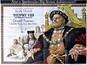 Henry VIII and His Six Wives (Original British poster for the 1972 film)