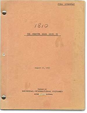 The Creature Walks Among Us (Original screenplay for the 1956 film, script supervisor's copy)