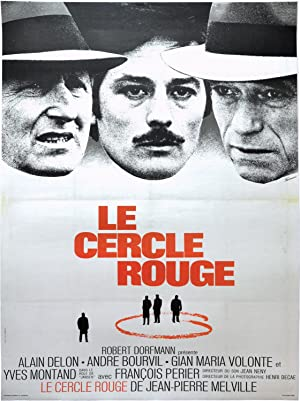 Le cercle rouge (Original French poster for the 1970 film noir)