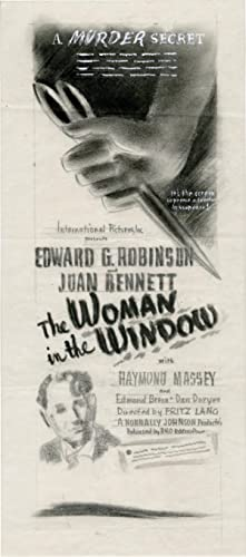 The Woman in the Window (Archive of concept art sketches for advertisements promoting the film's ...