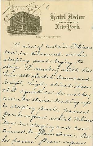 "Handwritten manuscript for the ""Back Porch"" skit: Fields, W.C."