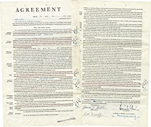 """Original Book Contract for """"Mildred Pierce,"""" signed: Cain, James M."""