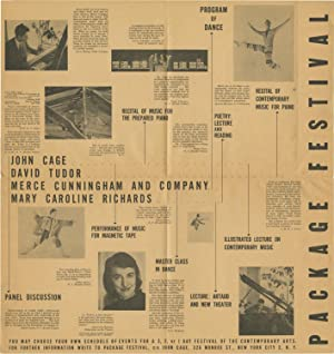 Small archive of posters and a handbill for early performances by John Cage, 1953-1957