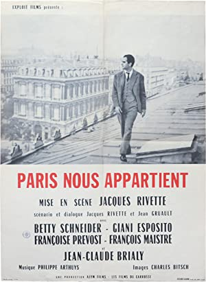 Paris nous appartient [Paris Belongs to Us] (Original French moyenne poster for the 1961 film): ...