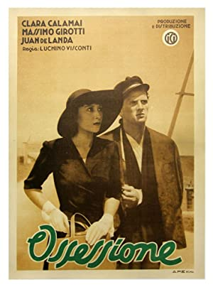 Ossessione [The Postman Always Rings Twice] (Complete set of original 3 Italian Fotobusta posters):...