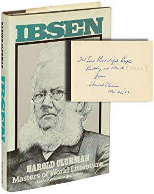 Ibsen (First Edition, inscribed to David Mamet and Lindsay Crouse in the year of publication)
