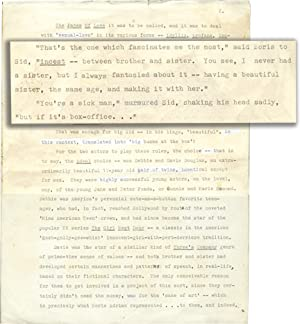 Sibling Love [Blue Movie] (Manuscript outline for a film treatment, with corrections): Southern, ...