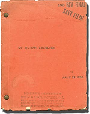 Of Human Bondage (Original screenplay for the 1946 film, script editor's copy): Maugham, W. ...