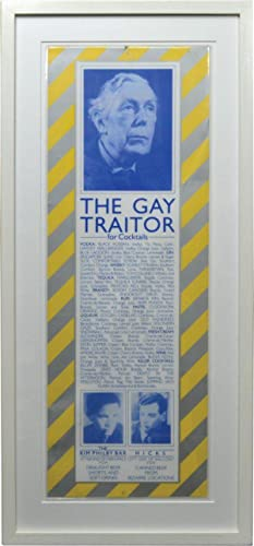 The Gay Traitor bar sign from The Hacienda in Manchester, circa 1982: Wilson, Tony] Factory Records