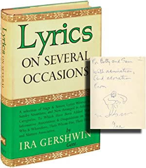 Lyrics on Several Occasions (First Edition, inscribed with a drawing)