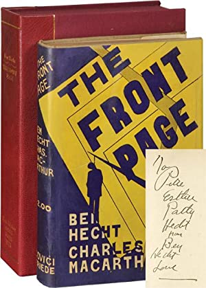 The Front Page (Signed First Edition): Hecht, Ben and Charles MacArthur