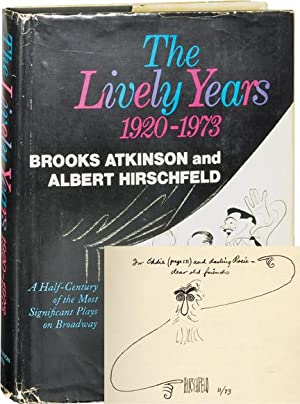 The Lively Years: 1920-1973 (First Edition, inscribed by Hirschfeld to playwright Edward Chodorov)