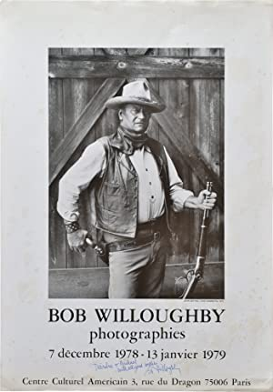 Bob Willoughby photographie (Original exhibition poster, signed)