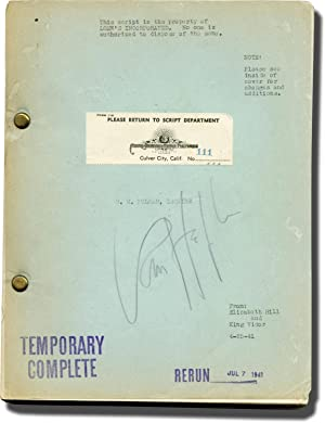 H.M. Pulham, Esq. [H.M. Pulham, Esquire] (Original screenplay for the 1941 film)