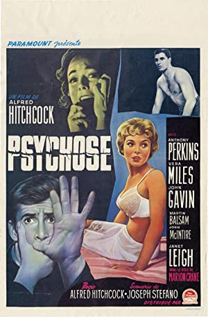 Psycho [Psychose] (Original Belgian poster for the 1960 film)