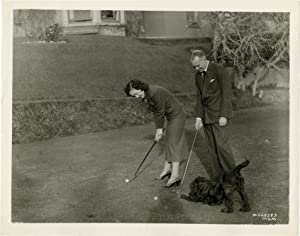 Maureen O'Sullivan and John Farrow play golf (Original publicity photograph)