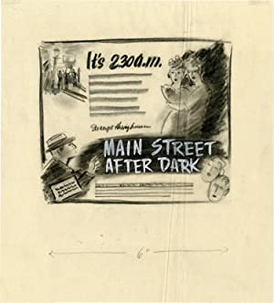 Main Street After Dark (Archive of concept art sketches for advertisements promoting the film's o...