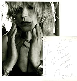 Oversize photograph of Marianne Faithfull by Bruce: Weber, Bruce (photographer);