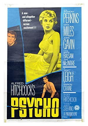 Psycho (Original US poster for release 1960: Hitchcock, Alfred (director);