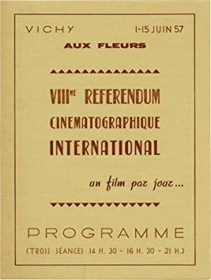 VIII Referendum Cinematographique International (Original Program for the 1957 film festival)