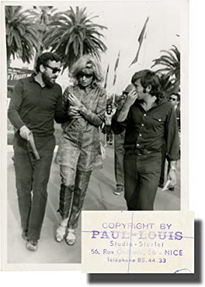 Louis Malle, Monica Vitti, and Roman Polanski at the 1968 Cannes Film Festival (Original Photograph)