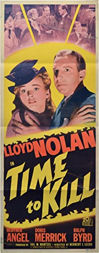 Time to Kill (Original US insert poster for the 1942 film)