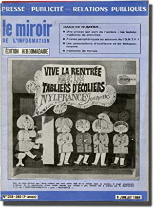 le miroir de l'information (Collection of four French press relations magazines)