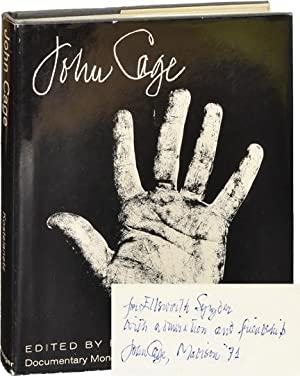 John Cage (First Edition, inscribed to Ellsworth: John Cage] Kostelanetz,