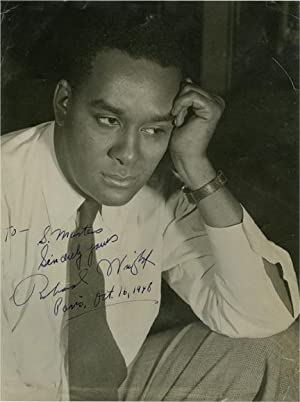 Photograph of Richard Wright, inscribed in Paris in 1948