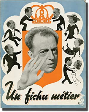 Un fichu metier (Original French film program for the 1938 film)