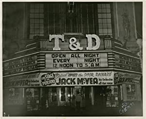 T&D Theatre marquee, circa 1946 (Original photograph, signed by the photographer)