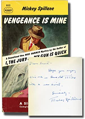 Vengeance is Mine (First Edition in paperback, inscribed to Signet Books founder Kurt Enoch)