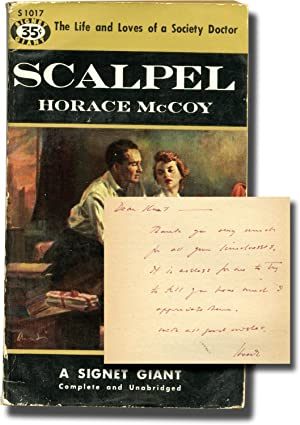 Scalpel (First Edition in paperback, inscribed to Signet Books founder Kurt Enoch)