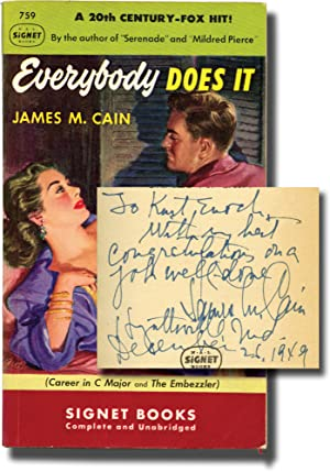 Everybody Does It (First Edition in paperback, inscribed to Signet Books founder Kurt Enoch)