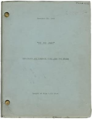 Tin Pan Alley (Post-production script for the 1940 film musical): Lang, Walter (director); Robert ...