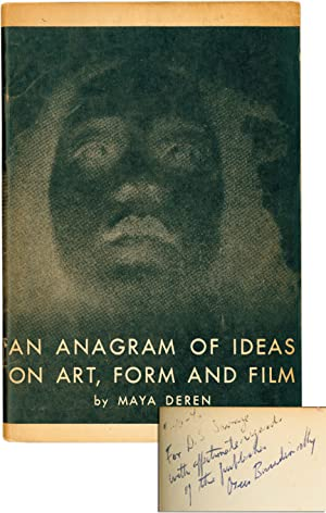 An Anagram of Ideas on Art, Form and Film (First Edition, inscribed by the publisher to D.S. Savage)