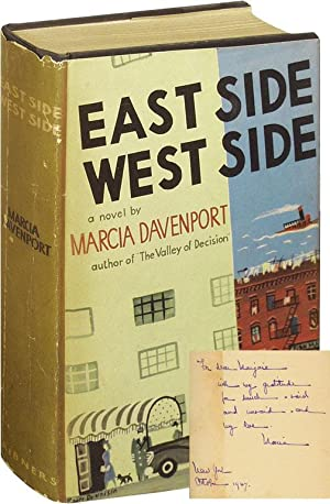 East Side, West Side (First Edition, Inscribed to Marjorie Kinnan Rawlings): Davenport, Marcia