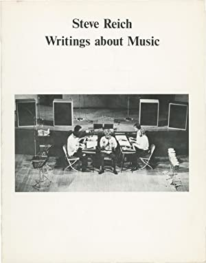 Writings about Music (First Edition, third issue, wrappers): Reich, Steve