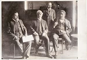 Original photograph of Giulio Gatti-Casazza, David Belasco, Arturo Toscanini, and Giacomo Puccini...