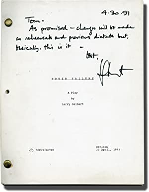 Power Failure (Original script for the 1991 play, signed by playwright Larry Gelbart)