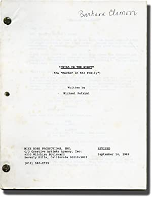 Child In The Night (Original screenplay for the 1990 television film)