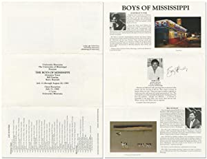Boys of Mississippi (Broadside for a 1988 Exhibit, signed by Barry Hannah)