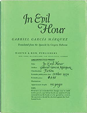 In Evil Hour (Uncorrected Proof)