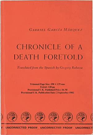 Chronicle of a Death Foretold (UK Uncorrected Proof)