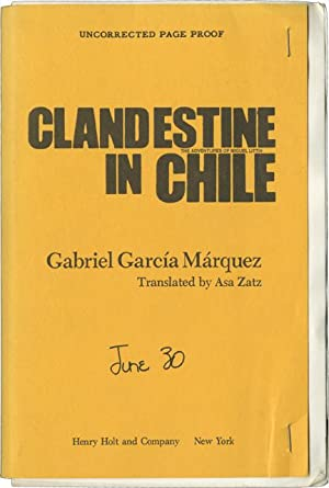 Clandestine in Chile (Uncorrected Proof)